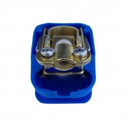 Cosse de batterie bleu - pôle négatif